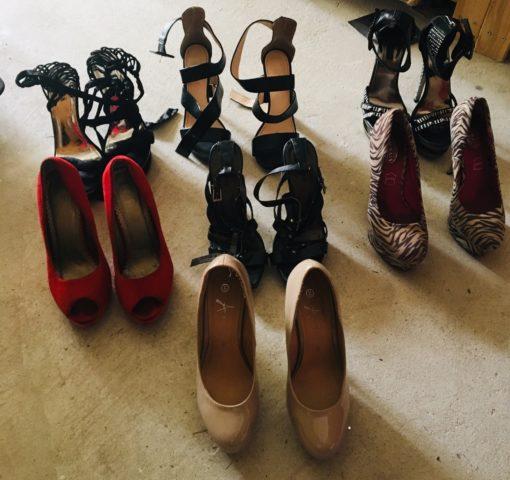 used shoes, little caprice, high heels , whatsAPP premium